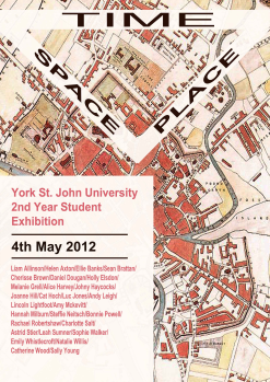 Poster for Outside the White Cube exhibition